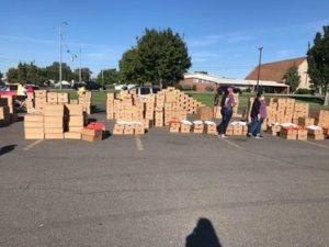 Over 1,800 boxes of food